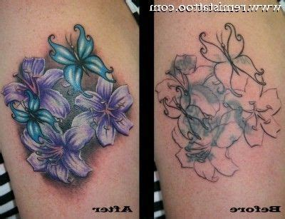 beforeandaftertattoocoverups  flower cover  tattoos     high