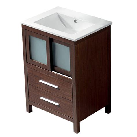 18 bathroom vanity with sink shop vigo wenge integral single sink bathroom vanity with