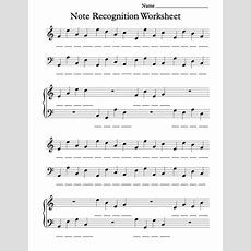 Beginning Note Recognition Worksheet For Individual Or Classroom Use Enjoy!  Music Worksheets