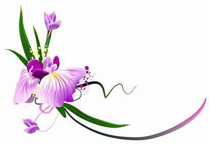 Floral Clipart Purple Clip