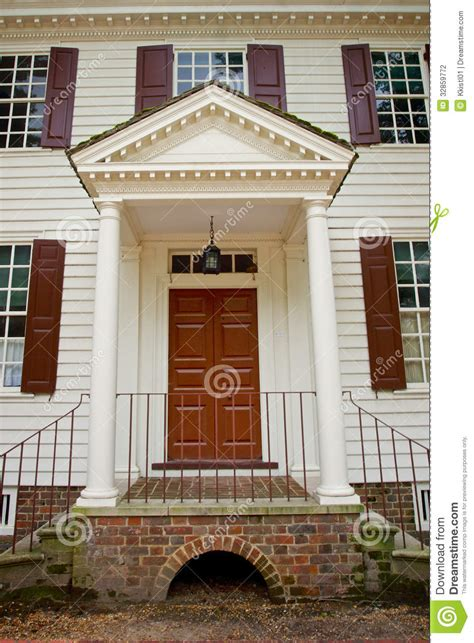 doorway  colonial house stock photography image