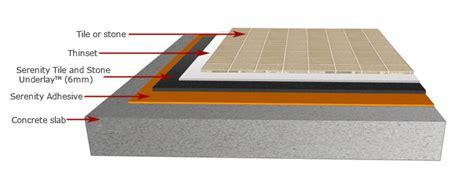 underlayment for vinyl tile on concrete serenity tile and underlay