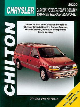 free car repair manuals 1992 plymouth voyager instrument cluster chilton repair manual dodge caravan voyager town country 1984 95 ebay