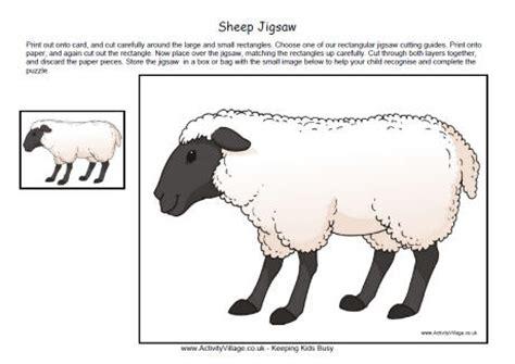 sheep jigsaw printable
