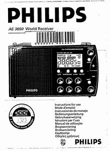 Philips Portable Radio Ae3650  03 User Guide