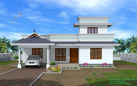 of images floor houses green homes kerala 4 bhk single storey house 1950 sq