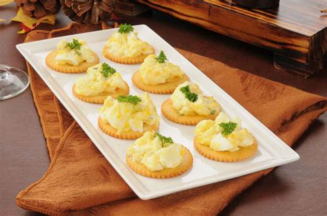 canapé cuisine herbed egg canapé recipe with dijon mustard by archana 39 s
