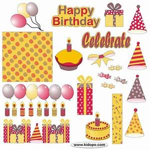Free Birthday decorations printable stickers