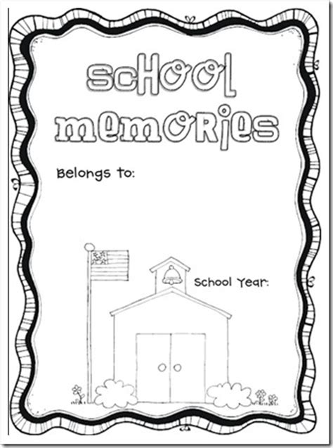 memory book templates 5 best images of free printable school memory book school year memory book printable free