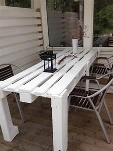 emejing table a manger de jardin en palette gallery With fabriquer table a manger