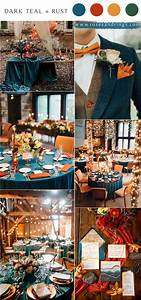 teal and rust fall wedding color ideas for 2021