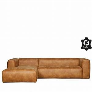 Canapé D Angle Gauche : canap d 39 angle gauche cuir cognac bean by drawer ~ Teatrodelosmanantiales.com Idées de Décoration