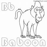 Baboon Coloring Pages Printable Getcolorings sketch template