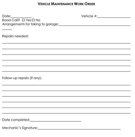 auto repair invoice templates  printable  fillable