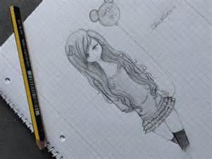 Anime Girl Drawing Sketch