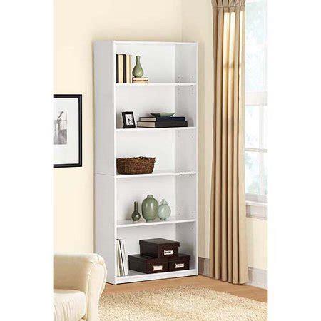 Walmart White Bookcase by Mainstays 5 Shelf Bookcase White Walmart