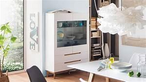 Wohnzimmer Vitrine Weiß : vitrine cervo highboard schrank wohnzimmer wei matt lack und asteiche ~ Markanthonyermac.com Haus und Dekorationen