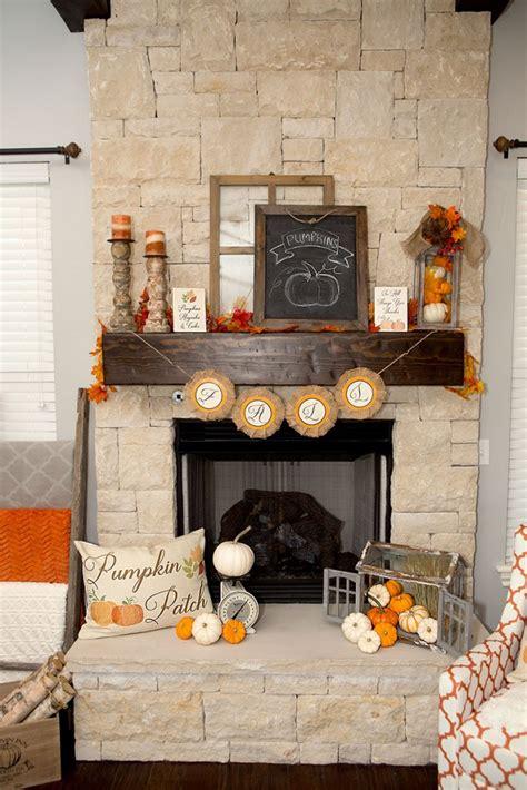 ideas    add fall decor   mantel