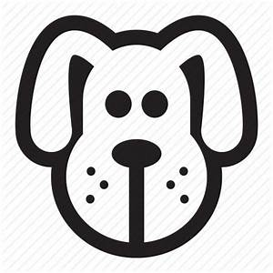 Animal, cute, dog, doggy, face, head, pet icon | Icon ...