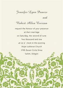 simple green formal wedding invitations ewi032 as low as With inexpensive formal wedding invitations