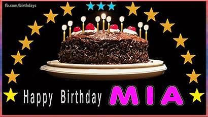 Mia Birthday Happy Cakes Greeting