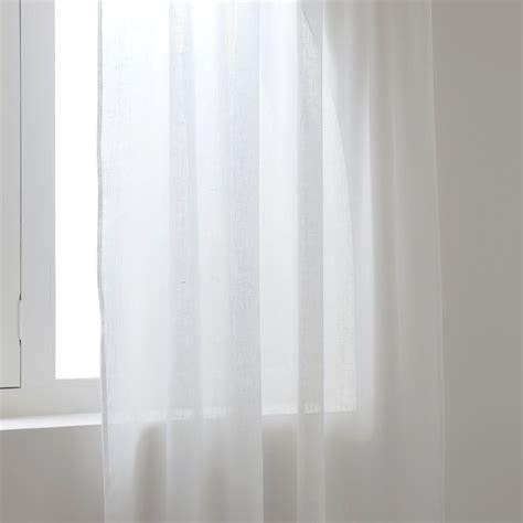 Transparente Leinengardine  Vorhänge  Schlafen Zara