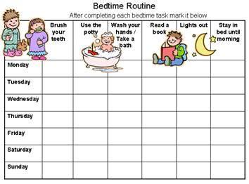 free printable bedtime routine chart customize 617 | bedtimeroutinechart