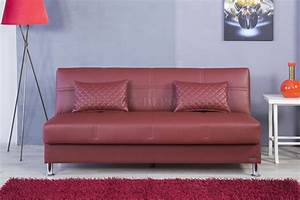eco rest sofa bed in zen burgundy leatherette by casamode With eco sofa bed