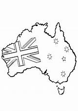 Colouring Pages Australia Coloring Australian Map Printable Clipart Crafts Happy Flag Craft Coloringkids Familyholiday Worksheets Anzac Ak0 Pencil Colour Holiday sketch template