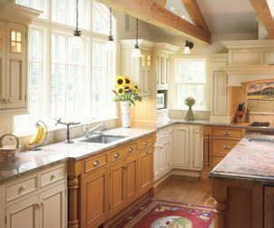 kitchen ideas mixed cabinets  oak  painted cabinets