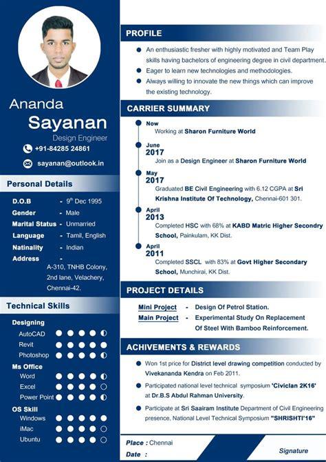 professional cv  fresher curriculum vitae resume resume