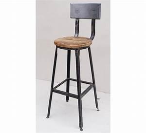 Chaise Bar Industriel : chaise de bar m tal atelier gray 7013 ~ Farleysfitness.com Idées de Décoration