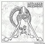 Melman Sick Coloring Giraffe Always Madagascar sketch template