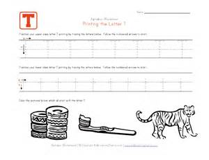 Printable Letter T Tracing Worksheets