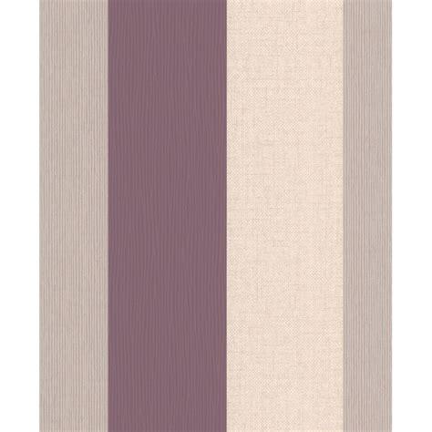 plum purple  cream stripe wallpaper java stripe