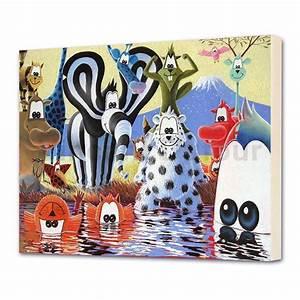 Chassis Pour Toile Tendue : tableau pour enfant toile animaux savane la bande titou 3 ch ssis 3d ~ Teatrodelosmanantiales.com Idées de Décoration