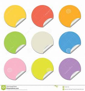 round colored stickers royalty free stock photo image With colored circle labels