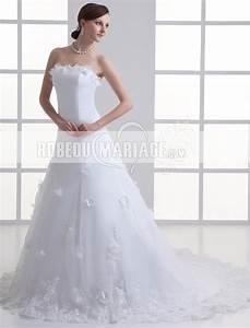 Fleurs Pas Cher Mariage : a ligne robe de mariage pas cher fleur organza robe pas cher robe207059 ~ Nature-et-papiers.com Idées de Décoration