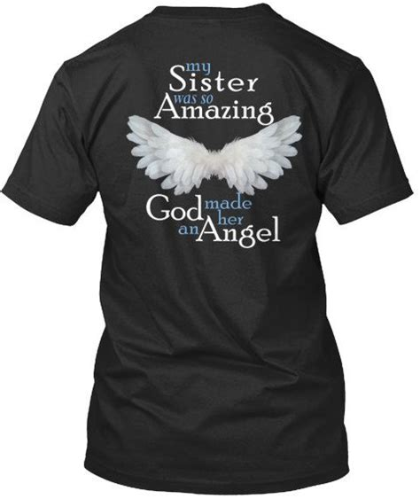 Memorial Sister Angel Tshirt - My Sister was so Amazing ...