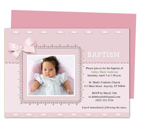 21 best Printable Baby Baptism and Christening Invitations