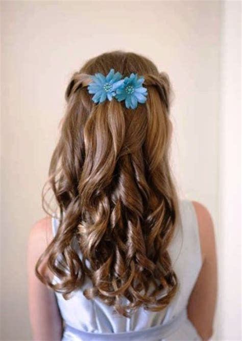 super cute flower girl hairstyle ideas