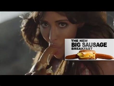 Carl's Jr. Hardee's Banned Super Bowl Commercial ! Too ...