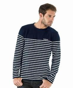 T Shirt Mariniere Homme : tee shirt manches longues homme ray marine t shirt mode ~ Melissatoandfro.com Idées de Décoration