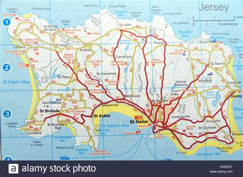 map jersey channel islands stock  map jersey