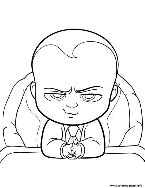 boss baby  fun coloring pages printable