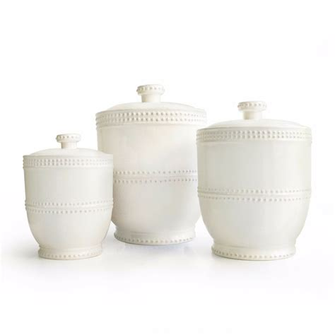 White Canisters For Kitchen by White Canister Set Storage Kitchen Jar Modern 3