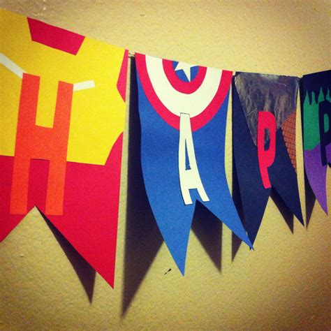 sons avengers themed banner   birthday party im