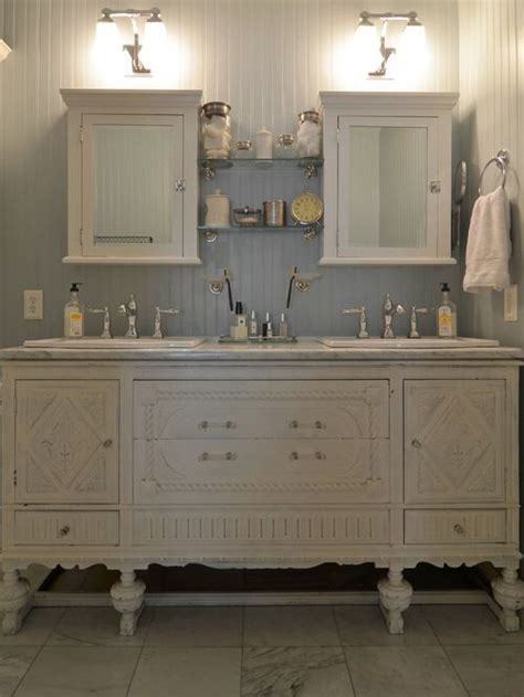 amazing vintage buffet repurposed   bathroom vanity