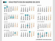 CALENDARIO LABORAL 2019 MADRID El próximo 9 de diciembre