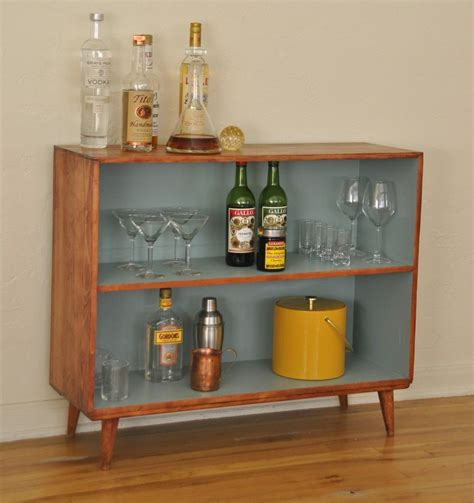 Small Bookshelf Cabinet by Mid Century Vintage Solid Wood Bookcase The Painted